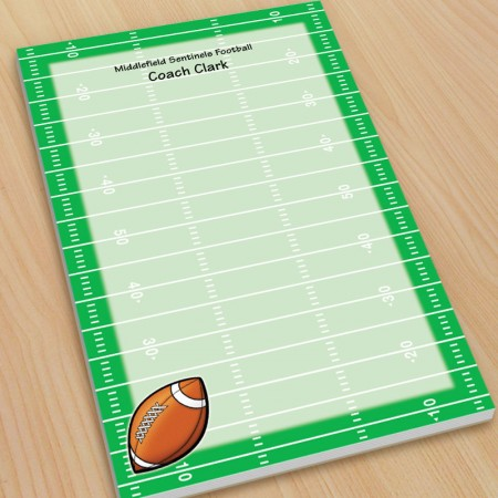 Sports Football Large Note Pads