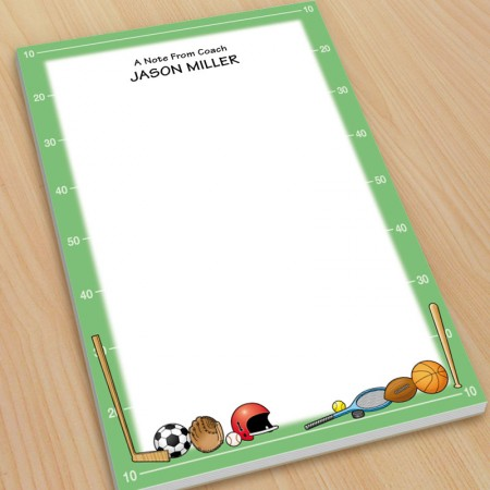 Sports Large Note Pads