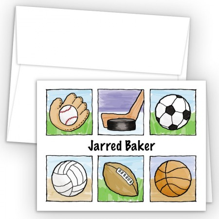 Sports Note Card 2