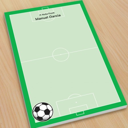 Sports Soccer Large Note Pads