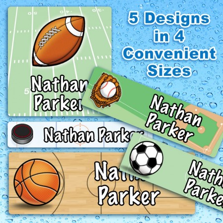 Sports Waterproof Name Labels For Kids