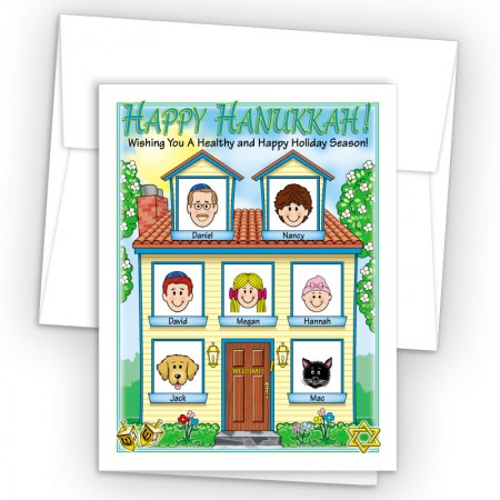 Spring House Happy Hanukkah Holiday Fold Note Head
