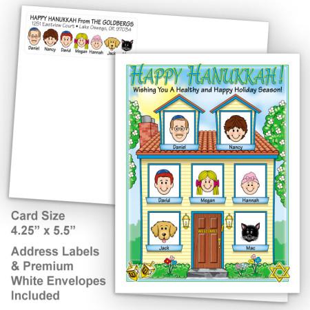 Spring House Happy Hanukkah Fold Note Set