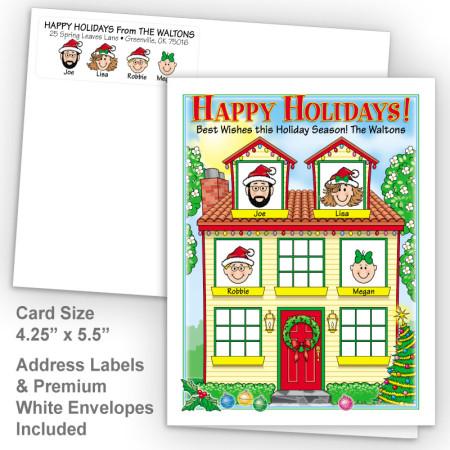 Spring House Happy Holidays Fold Note Set