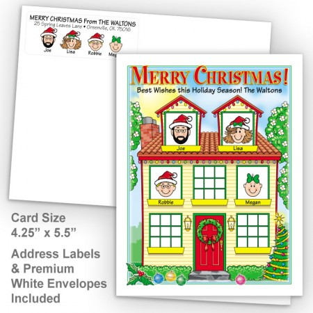 Spring House Merry Christmas Fold Note Set
