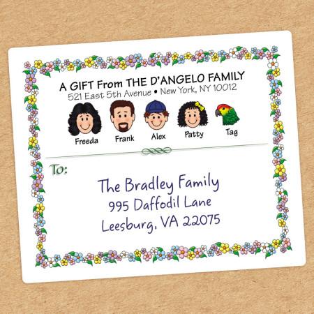 Springtime Family Shipping Label