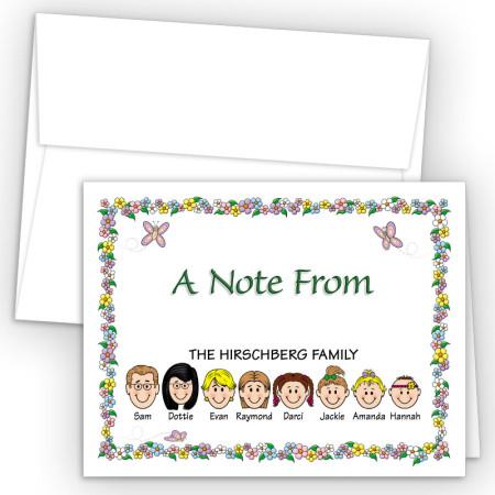 Springtime Foldover Family Note Card