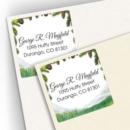 Mountain Square Address Labels