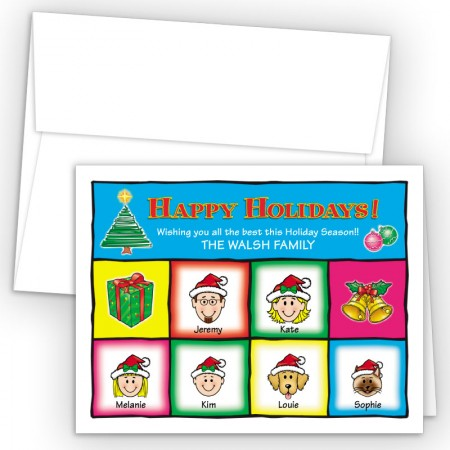 Squares Happy Holiday Fold Note