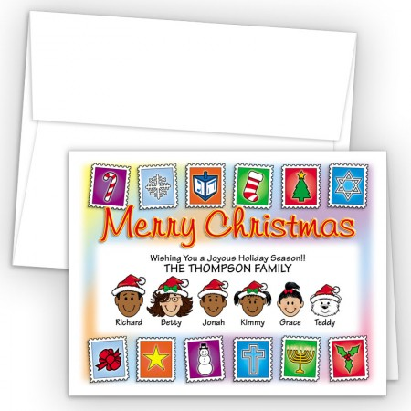 Holiday Stamps Merry Christmas Holiday Fold Note Head