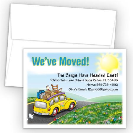 Station Wagon Moving Card