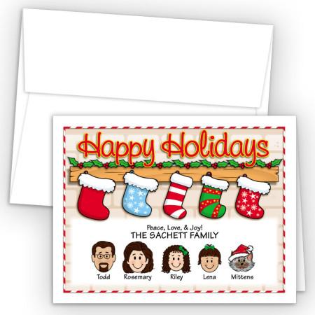 Christmas Stocking Happy Holiday Fold Note