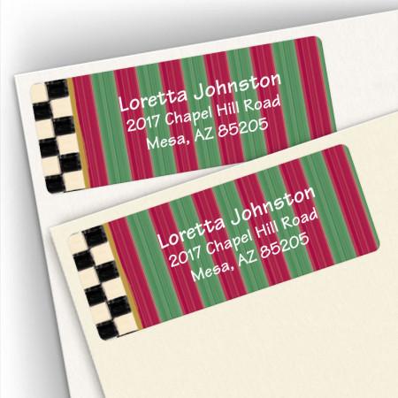 Stripes and Checks Address Labels