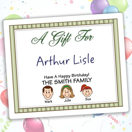 Stripes Family Gift Labels