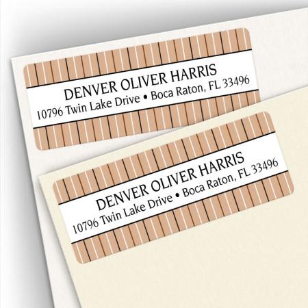 Stripes Tan Address Labels