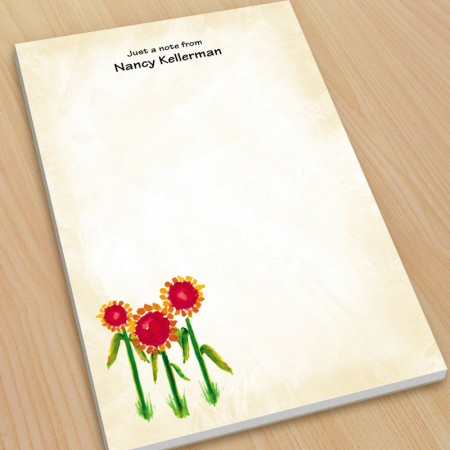 Sunflowers Watercolor Large Note Pads