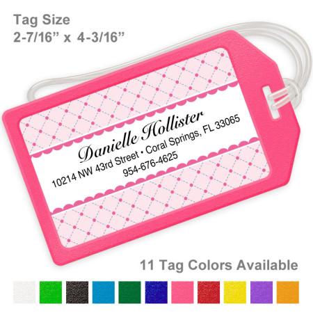 Sweet Dreams Pattern Pink Luggage Tag