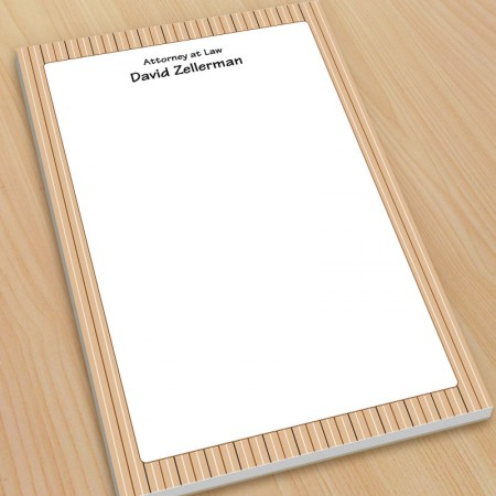 Tan Stripes Large Note Pads