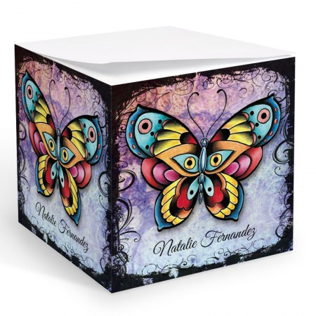 Tattoo Butterfly Memo Cube