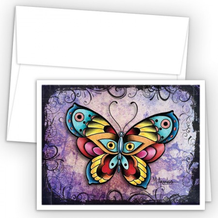 Tattoo Butterfly Note Card