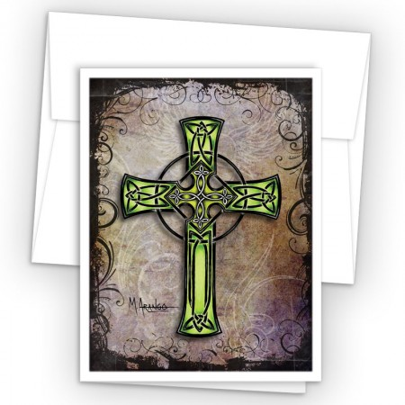 Tattoo Celtic Cross Note Card