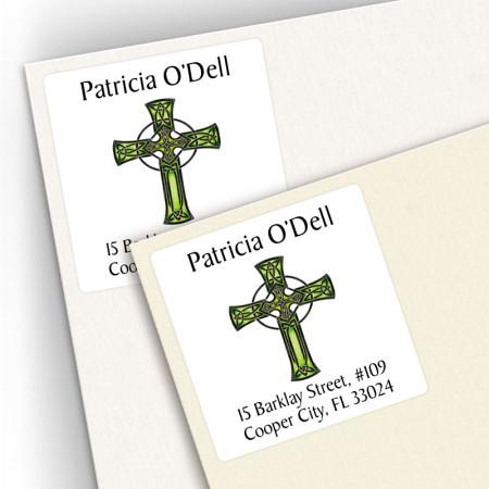 Tattoo Celtic Cross Square Address Labels