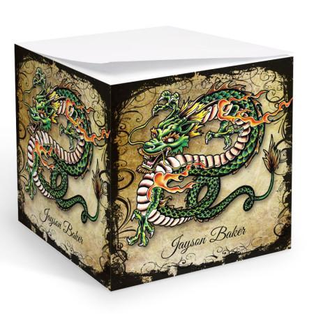 Tattoo Dragon Memo Cube