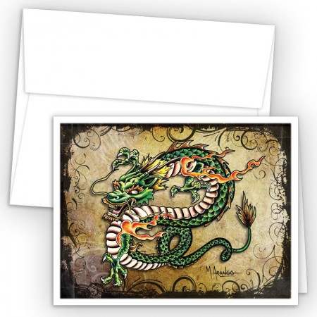 Tattoo Dragon Note Cards