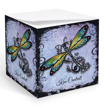 Tattoo Dragonfly Memo Cube