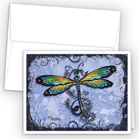 Tattoo Dragonfly Note Cards