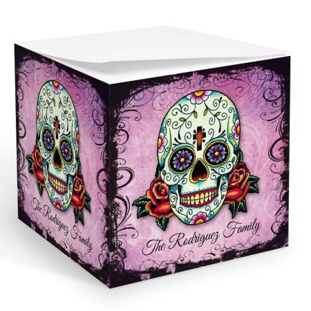 Tattoo Skull Memo Cube