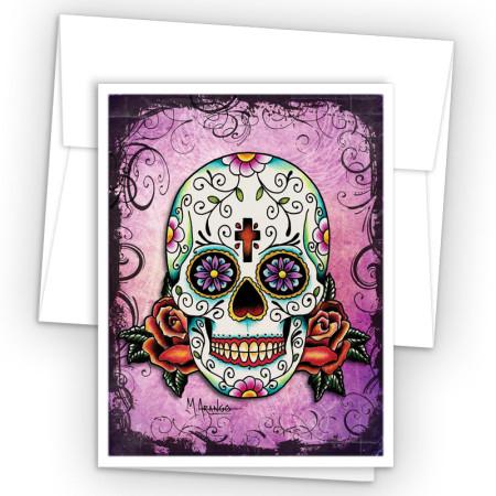 Tattoo Skull Note Cards