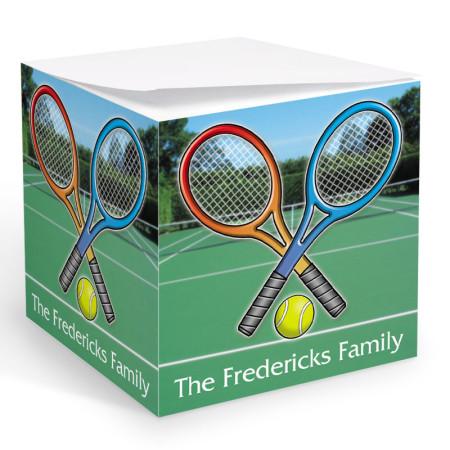 Tennis Memo Cube