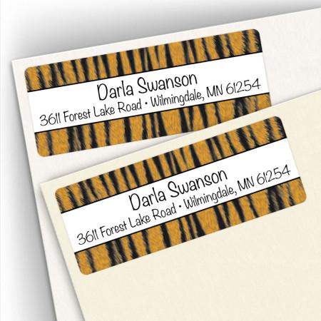 Tiger Stripes Address Labels