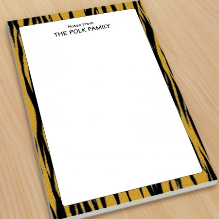 Tiger Stripes Pattern Large Note Pads