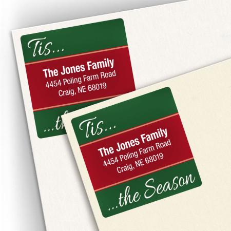 Tis the Season Square Address Labels
