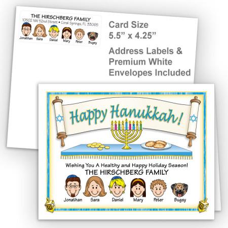 Torah Happy Hanukkah Fold Note Set