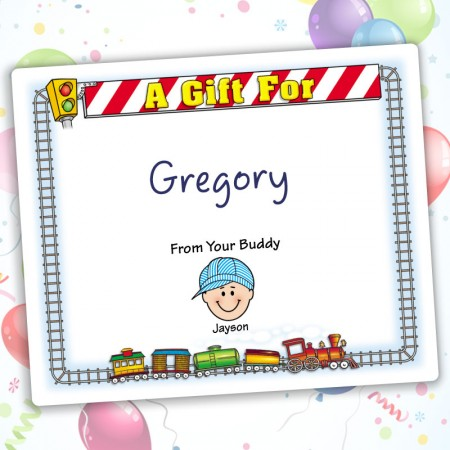 Train Family Gift Labels