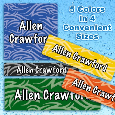 Tribal Waterproof Name Labels For Kids
