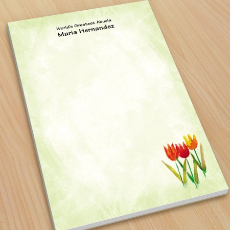 Tulips Watercolor Large Note Pads