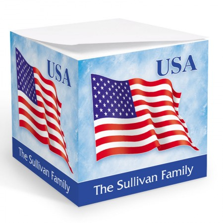 USA Flag Memo Cube
