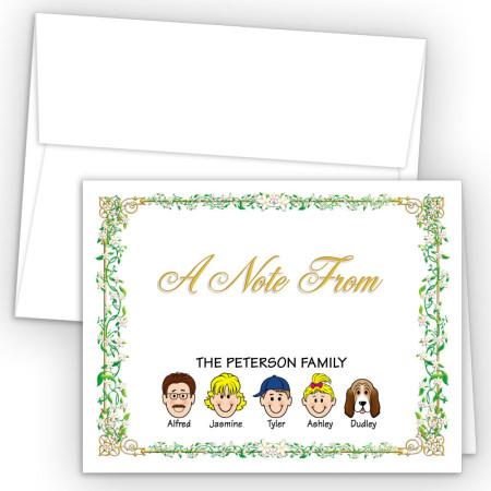 Vines Foldover Family Note Card