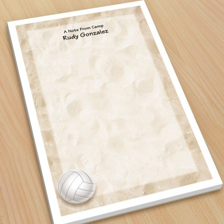 Sports Volleyball Large Note Pads
