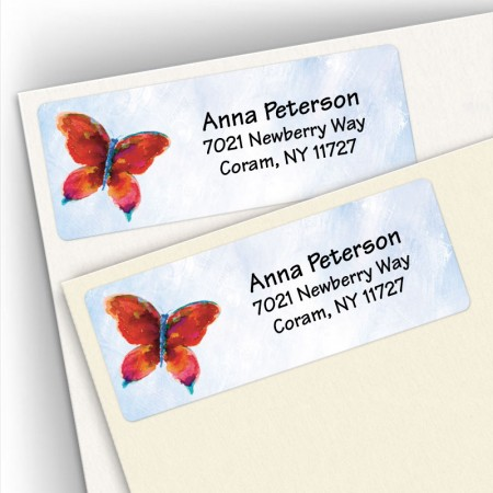 Watercolor Butterfly Address Labels