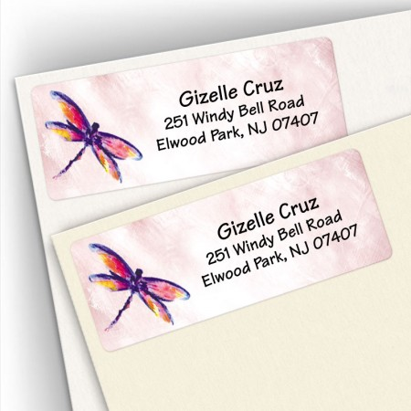 Watercolor Dragonfly Address Labels