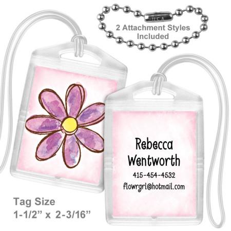 Watercolor Flower Lavender Mini Tag