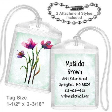 Watercolor Flowers 2 Mini Tag