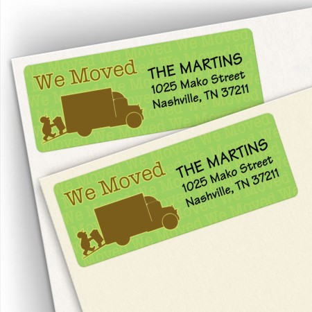 We Moved Address Labels
