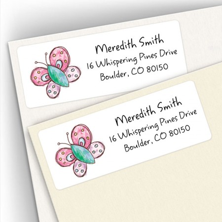 Whimsical Butterfly Address Labels