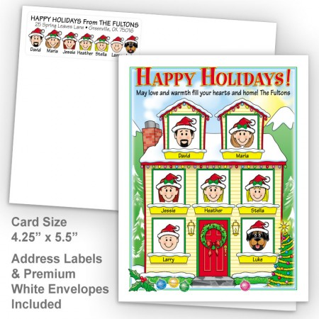 Winter House Happy Holidays Fold Note Set